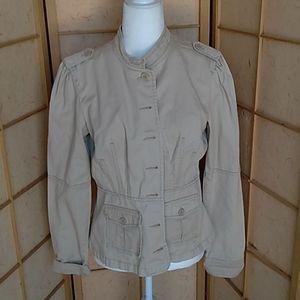 Clio tan button up jacket sz 8
